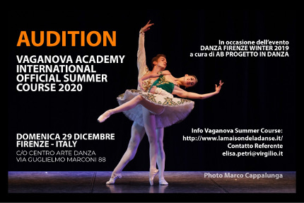 AUDIZIONE VAGANOVA INTERNATIONAL OFFICIAL SUMMER COURSE