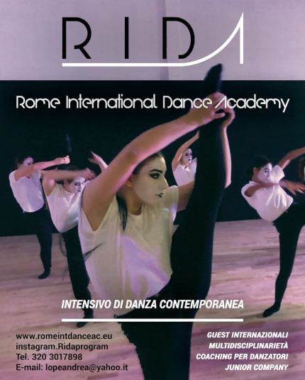 AUDIZIONI ON-LINE 2021/2022  INTENSIVO DI DANZA CONTEMPORANEA  RIDA
